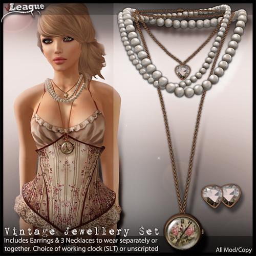 *League* Vintage Jewellery Set