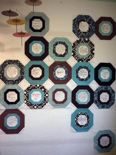 Signature Quilt, On the Design Wall