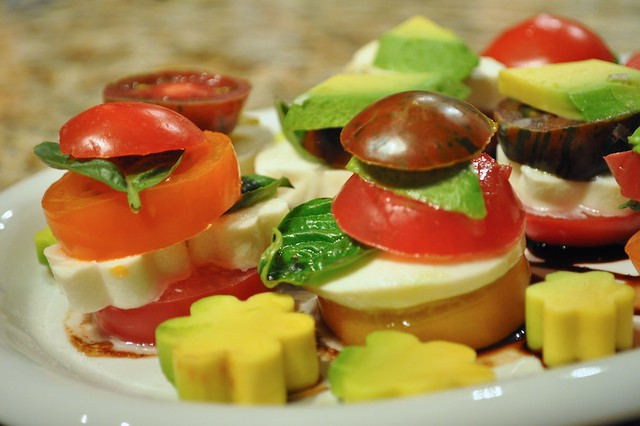 Tomato, Mozzarella, and Avocado Salad