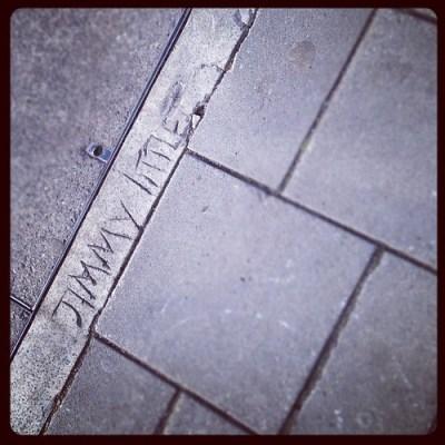 JIMMY LITTLE #london #wanstead #pavement #concrete #graffiti