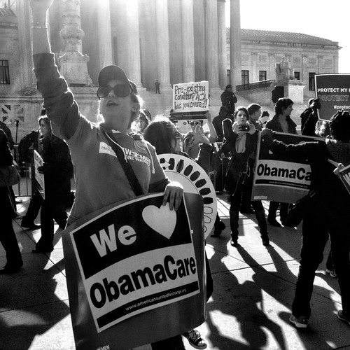 Pro Obamacare Rally