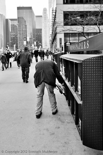 Newspapers | The Magnificent Mile | Chicago by Somnath Mukherjee Photoghaphy