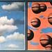Magritte.Pink Belles, Tattered Skies