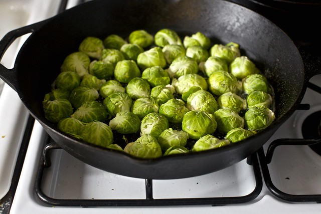 pan-browned brussels