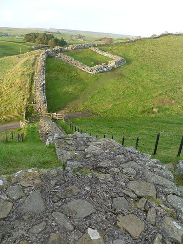 Milecastle 42 from the neighbouring truncated peak