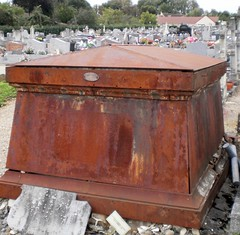 Rusting away in AVALLON CEMETERY, Burgundy, France
