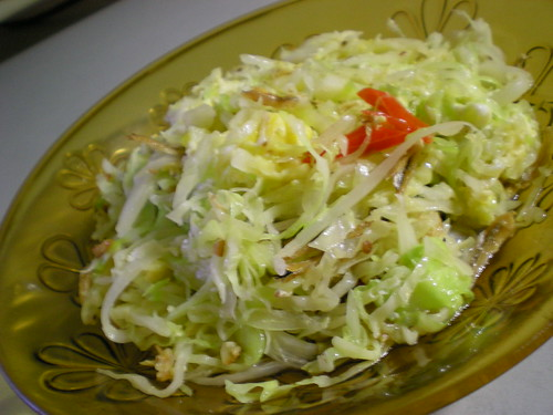 STP's fried cabbage 1