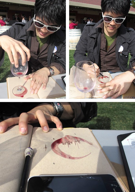 Chris turns wine into art