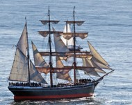 Star of India, world's oldest active sailing ship, during annual re-certification.
