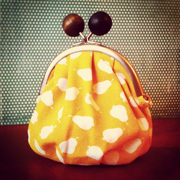 Cutest little coin purse from my sister. I love it!