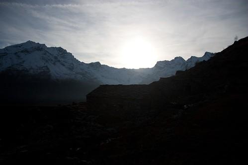 Un tramonto nell'aria