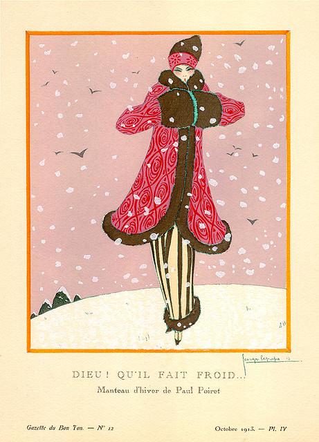 Dieu! Qui'il Fait Froid...by Georges Lepape