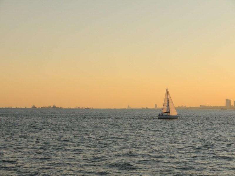 A sunset yacht