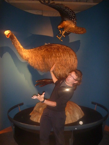 Col being attacked by a moa in Te Papa