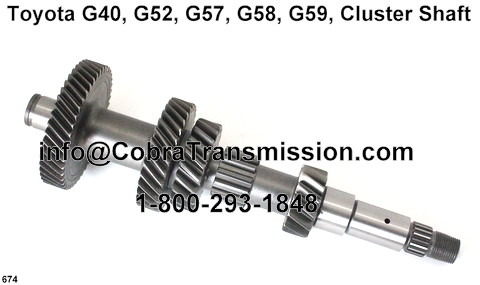 Cluster Shaft Toyota G40 G52 G57 G58 Standard Manual