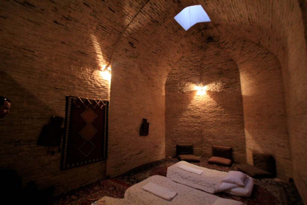 Inside the Zein-o-din Caravanserai