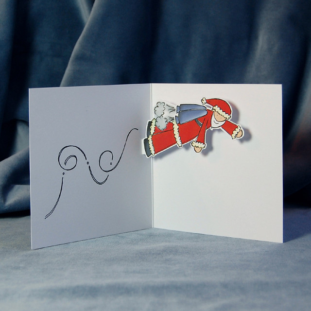 jetpack santa - pop up card (inside)