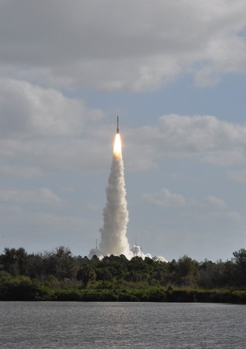 Lift Off! United Launch Alliance Atlas V Rocket Carrying NASA's Mars Science Laboratory Curiosity Rover, View from Kennedy Space Center, Fla., Press Site, Nov. 26, 2011