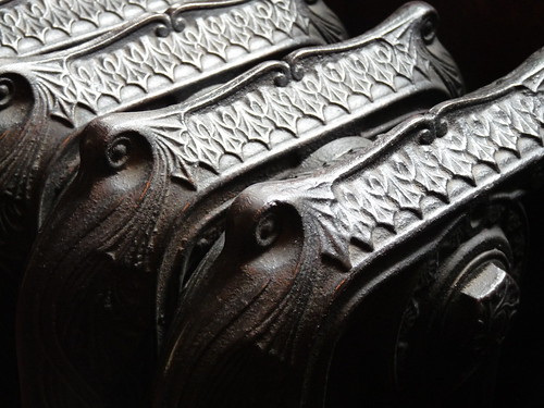 detail of cast iron radiator in Charlecote Park
