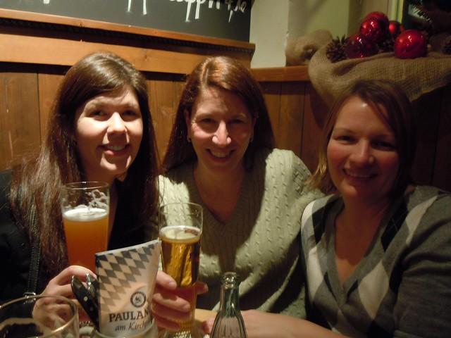 Jen, me & Tricia at Paulaner