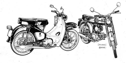 酒 レーサー (Sake Racers): Honda CM91 and S90