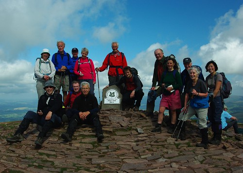 20110821-32_Midland Hill Walkers - A-Party on Pen y Fan Summit by gary.hadden