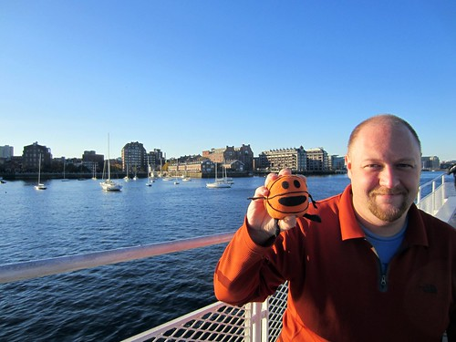 matt and bally in boston harbor