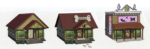 Sims 3 Pet Shop Concept Art!