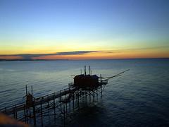 Termoli - Trabucco al tramonto