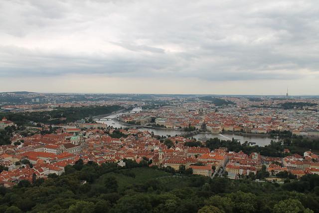 Vue de Prague depuis Petřin