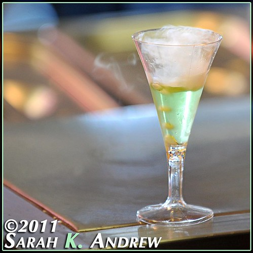 Little bubbly green cocktail