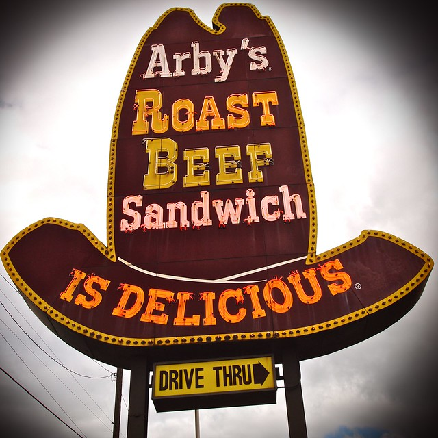 Classic Arby's sign