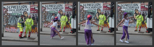 Depressed workers at Cardiff MAS Carnival 2011