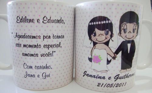 Caneca personalizada Amar é by by Luciana Godoy - Lembrancinhas Personalizadas