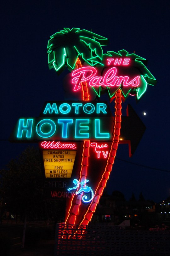 The Palms Motor Hotel - 3801 North Interstate Avenue, Portland, Oregon U.S.A. - July 8, 2011