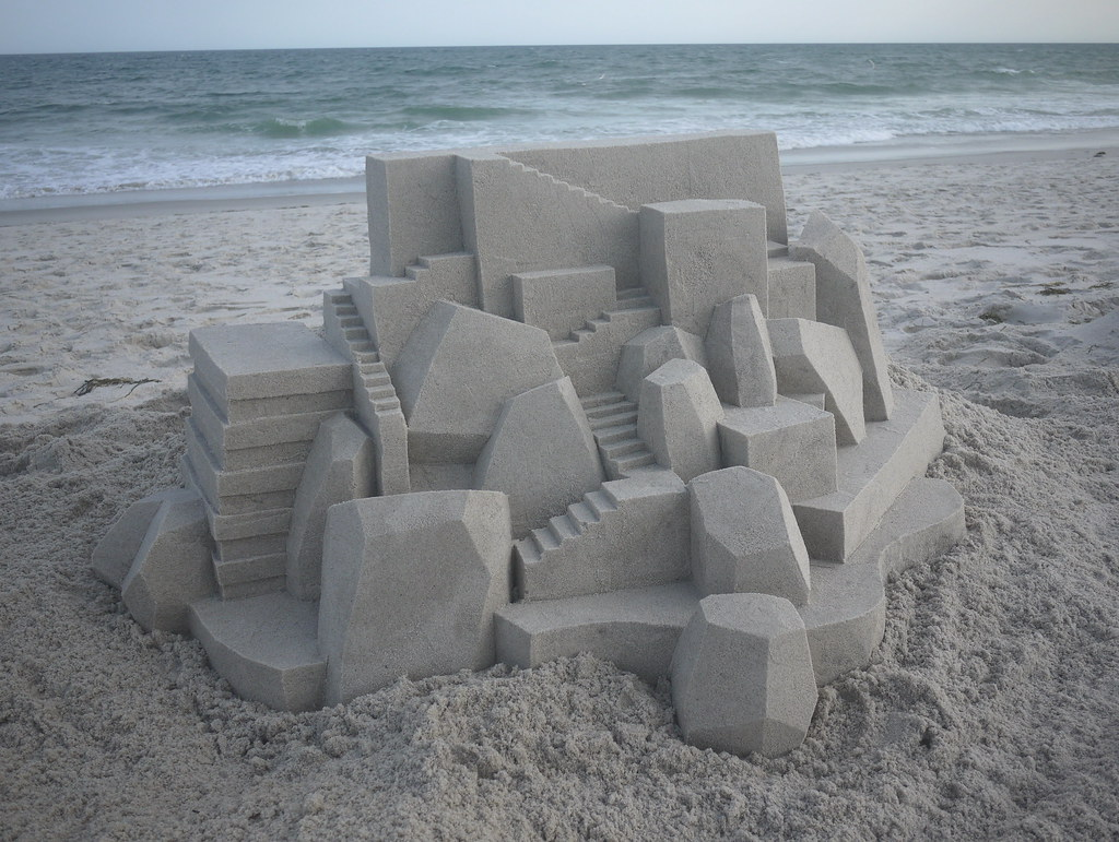 5944565807 3f44f3638a b Geometric Sand Sculptures by Calvin Seibert