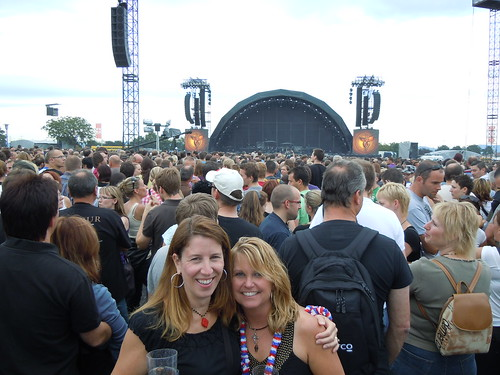 me & Barbara in the crowd