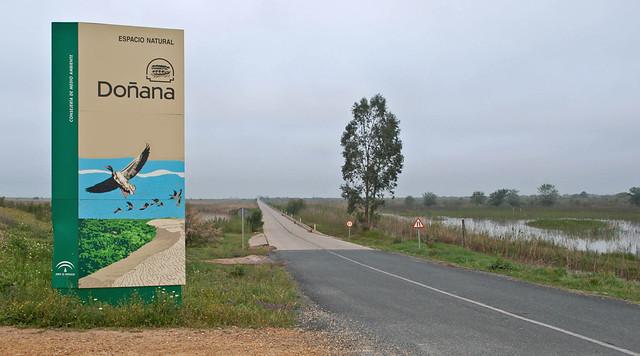 Entrada al Parque Natural de Doñana