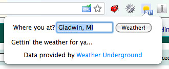 Weather Underground Microcopy - Chrome Extension