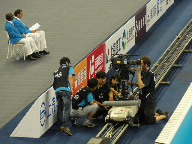 A stressful moment at Shanghai 2011