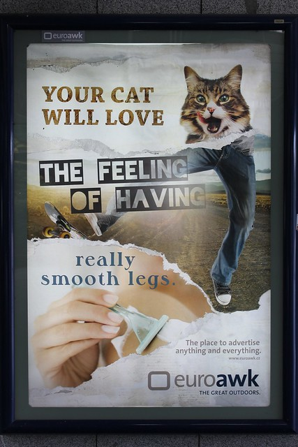 Funny Euroawk advertising, Prague