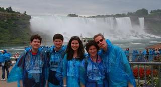 Before we got wet, don't we look attractive!