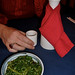 Seaweed Salad and Sake