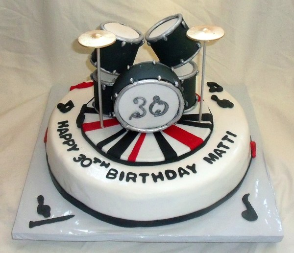 Drum Set Cake Music Themed Fondant Birthday Cakes