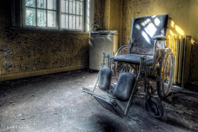 wheelchair at asylum L  Flickr  Photo Sharing