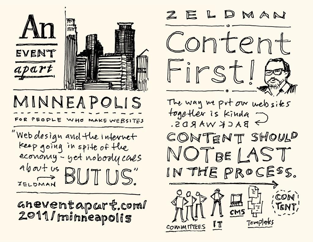 AEA Minneapolis Sketchnotes: Jeffrey Zeldman - 01-02