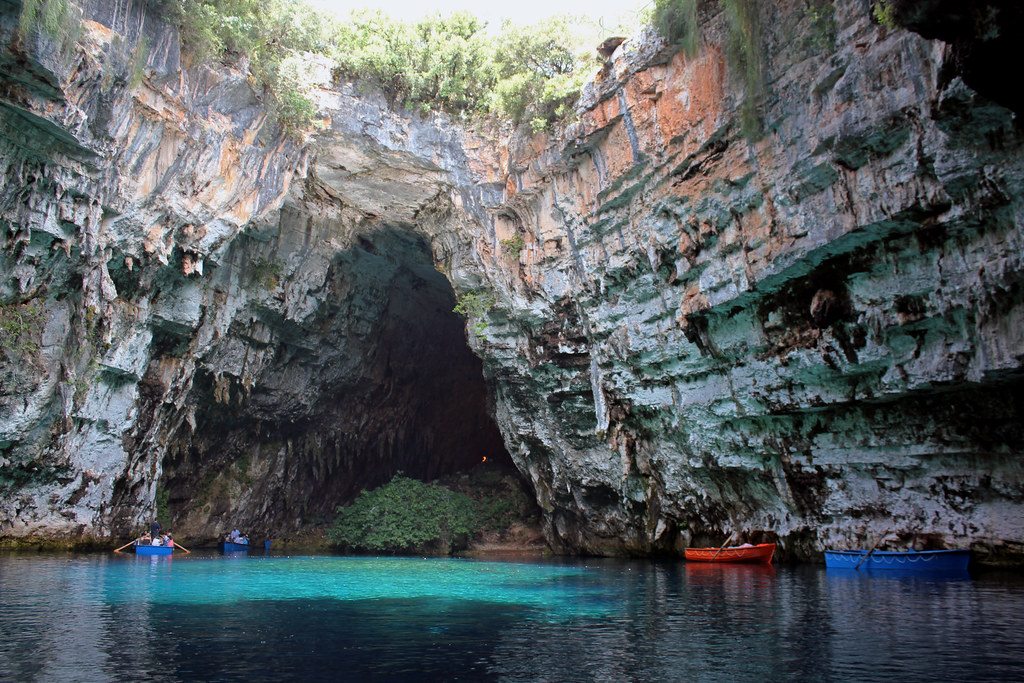 Melissani Cave, Cave of the Nymphs. Kefalonia. Greece.