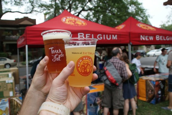 New Belgium Beer  Tour De Fat
