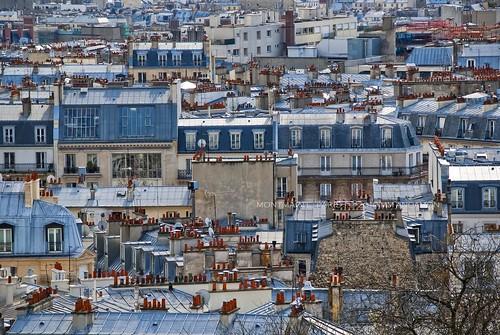 Paris - City of dessus de toit (rooftops and skyline)