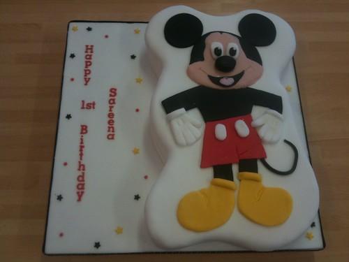 Sareena's Mickey Mouse 1st Birthday Cake